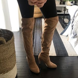 Tan Over The Knee Boot OTK Size 8.5